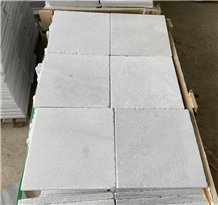 Silver Grey Crystal Marble Antiqued Paver