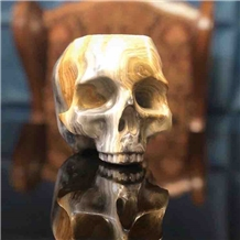 Onyx Carved Skeleton Of the Head