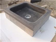 Blue Limestone Basin Sink Bowl Washing Facility