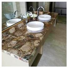 Quartz Crystal Washing Basin Series Bathroom Countertop, Vanity Top