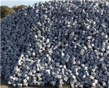 Ezine Grey Granite Cubestone, Cobble Stone