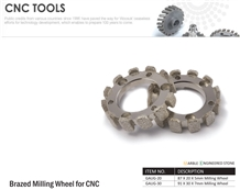 Brazed Milling Wheel for Cnc Machines