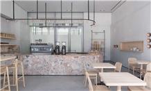 Breccia Deja Marble Bar Top, Commercial Counters
