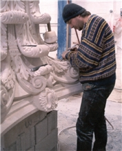 Indiana Limestone Carved Column