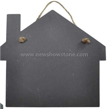 Home Shape Board Tray Slate for Decorating