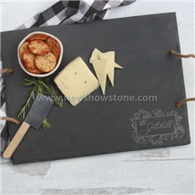 Slate Cheese Board with Rough Edge
