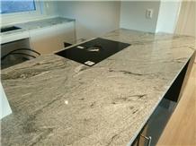 Viscont White Wavy Granite Kitchen Countertop