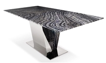 Black Wooden Vein Marble Rectangle Office Meeting Table,Ten People Set Stone Furniture