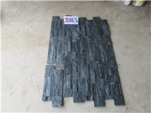 Black Quartize Cultured Stone,Wall Panel,Z Stone