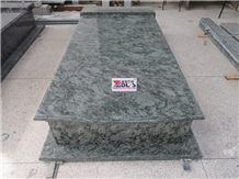 Olive Green Granite Western Style Grave Tombstones