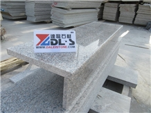 Polished G361 Pink Granite Stairs Riser Steps