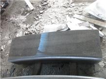 Sawn Cut Hainan Black Basalt Radius Kerbs