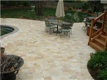 Beige Travertine Floor Covering Tiles