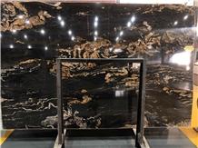Black Forest Portoro Luxury Quartzite Slab Price