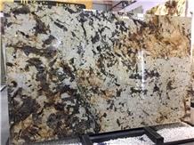 Brazil Havana Gold Granite Slabs for Hotel Project