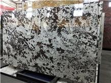 Brazil Snow Mountain Silver Fox Granite Slabs
