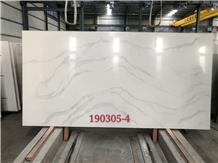Match Calacatta White Engineered Quartz Slabs