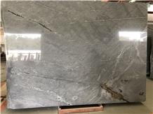 Polished Galaxy Grey Marble Slab Wall Cladding