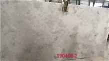 Polished Noble Grey Engineered Quartz Stone Slabs