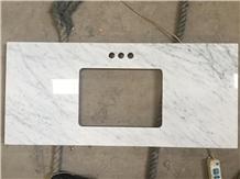 Bianco Cararra White Marble Countertop Vanity Top