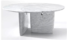 Natural White 48 Round Marble Table Top