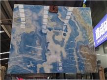Onice Glaciale Cielo Del Sahara Blue Onyx Slabs