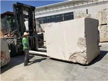 Pakistan Light Beige Limestone Blocks in Stock
