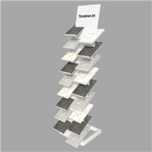 Showroom Porcelain Tile Display Tower Stand