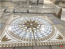 Water-Jet Medallions Entrance Floor Decorative