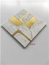 Water Jet Metal Mosaic Bathroom Kitchen Wall Tiles