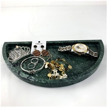 Deluxe Natural Marble D Type Tray