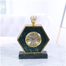 European Style Antique Marble Table Clock