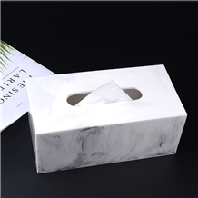 Fashionable Hot Sell White Marble Tissue Box