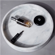 Home Luxury Round Marble Tray