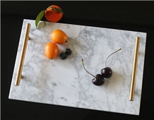 Hotel Decorations Rectangle Marble Tray
