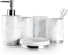 Natural Marble Bathroom Accessories Set