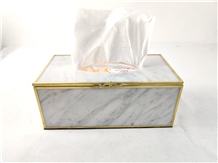 Old Fashion Stone Marble Tissue Box for Home Decor