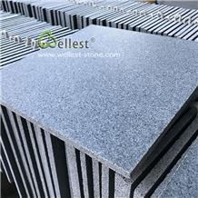 G654 Dark Grey Blue Honed Granite Tile