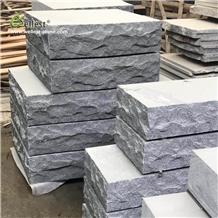 G654 Dark Grey Granite Split Rock Face Block Step