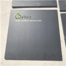 Honed Black Slate Tile for Flooring Patio Walkway