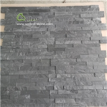 Riven Black Slate Thin Wall Ledge Stone Veneer