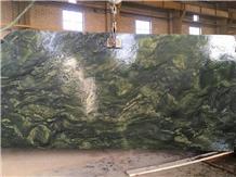 Green Picasso Granite Slabs, Birjand Climber Granite