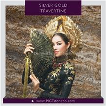 Silver Gold Travertine