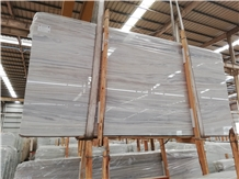 Greek White Wood Marble/Veroia Stripes Marble