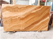 Yellow Gold Wood Grain Onyx Slabs Wooden Vein