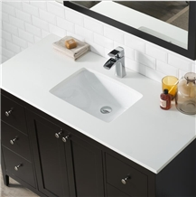 Pure White Nano Stone Custom Vanity Tops