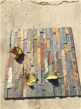 China Multicolor Rustic Riven Slate Wall Cladding