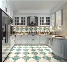 Amazonite Green Quartzite Kichen Floor Tiles