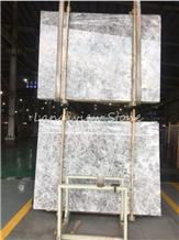 Dora Cloud Grey Ash Marble Ice Silver Spider Slabs