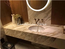 Statuario Gold Marble Vanity Top